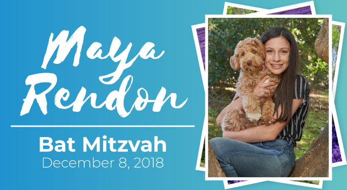 maya rendon bat mitzvah temple emanuel