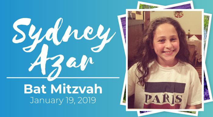 sydney azar bat mitzvah temple emanuel los angeles reform community