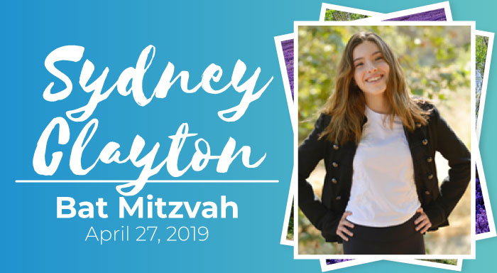 sydney clayron bat mitzvah los angeles jewish temple